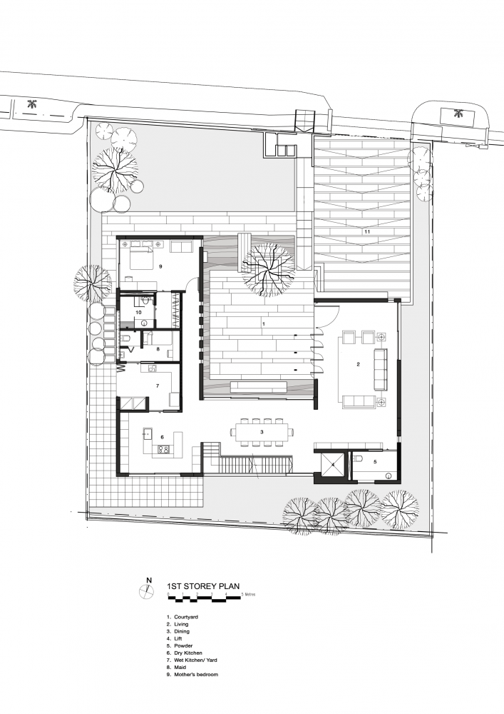 Gallery of The Courtyard House / AR43 Architects - 18 in 2019 ... on blueprint house plans, building house plans, good house plans, architect house plans, small modern prefab floor plans, frame house plans, design house plans, urban house plans, glass and steel house plans, small two bedroom house plans, treehugger house plans, architectural record house plans, houzz house plans, big house plans, art house plans, architectural digest house plans, modern house plans, circular house plans, lake house plans, house house plans,