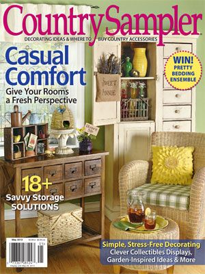 Cover of April May issue of Country Sampler | My home in Country ...