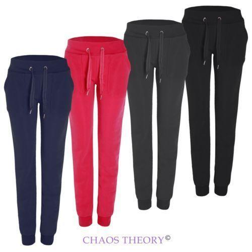 Ladies Womens Loungewear Tracksuit Pants Jogging Bottoms Yoga  Jogger Fleece