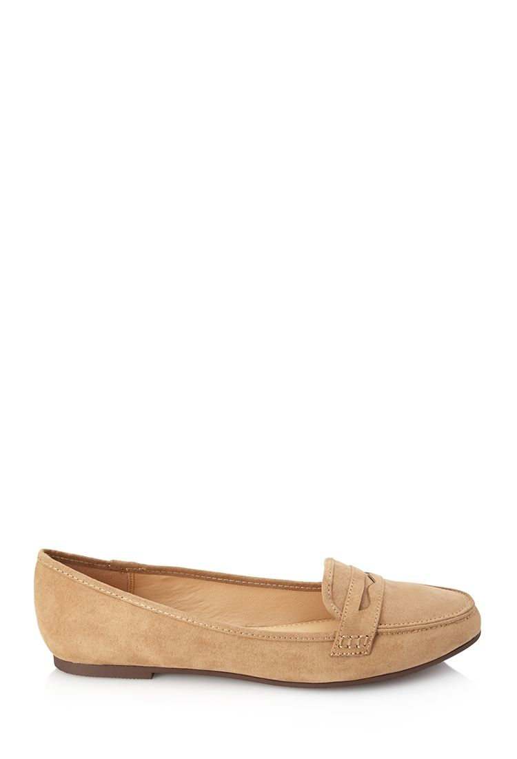 Faux Suede Penny Loafers Flats Footwear Pinterest Shoes