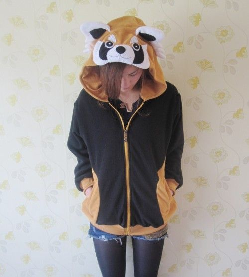 Cosplay New Kigurumi KIDS Red Panda Hoodie Vest Costume