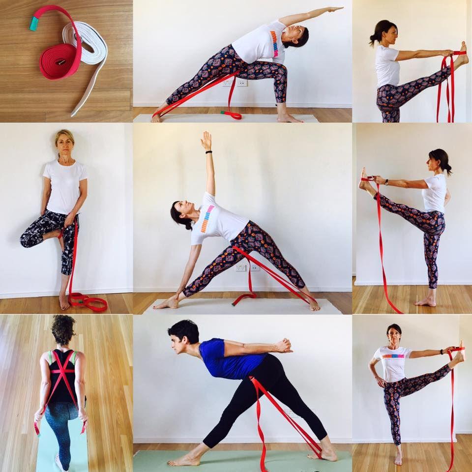 Yoga Poses Using Straps
