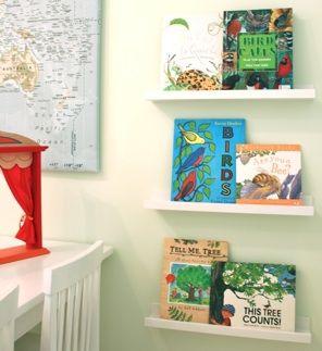 Ribba Shelves From Ikea Used As Forward Facing Bookshelves Playful