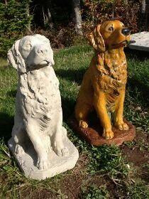 Golden Retriever Statue Dog Garden Statues