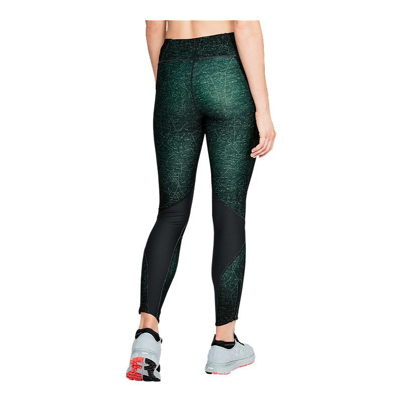 Black Under Armour Fly Fast Printed Womens Long Running Tights