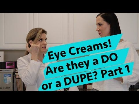 The best EYE CREAMS for dry, crepey, wrinkled under eyes and eyelids! - YouTube