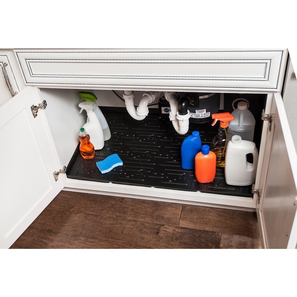 Wondrous Black Bathroom Vanity Depth Under Sink Cabinet Mat Drip Tray Download Free Architecture Designs Crovemadebymaigaardcom
