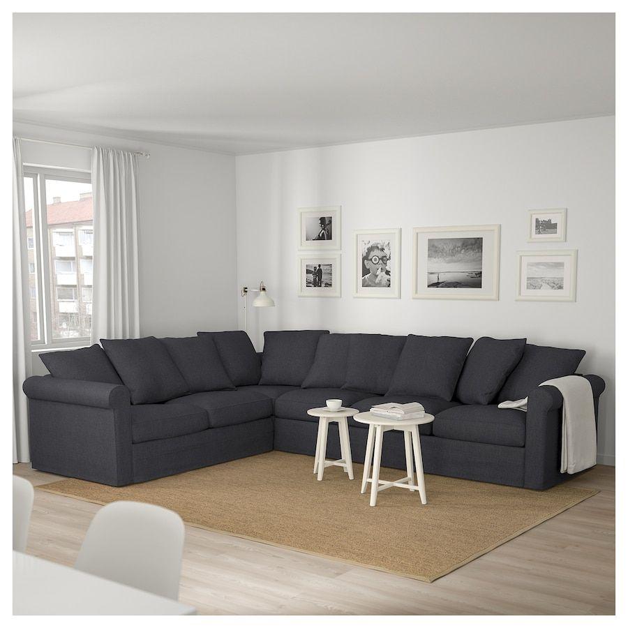 Ikea Gronlid Canape D Angle 5 Places Canape Angle Salon Sectionnel Gris Salon Gris