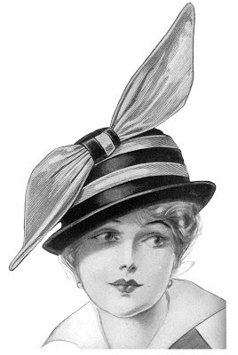 Edwardian Fashion - Ladies Hats - The Graphics Fairy