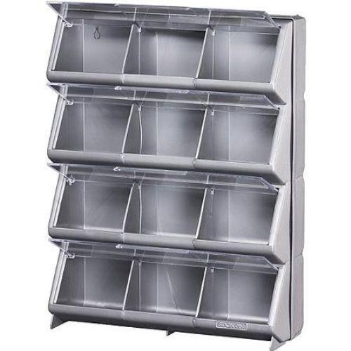 Tool Storage Organizer Shelf Shelving Garage Container Plastic Bin Rack Box  Wall #Unbranded