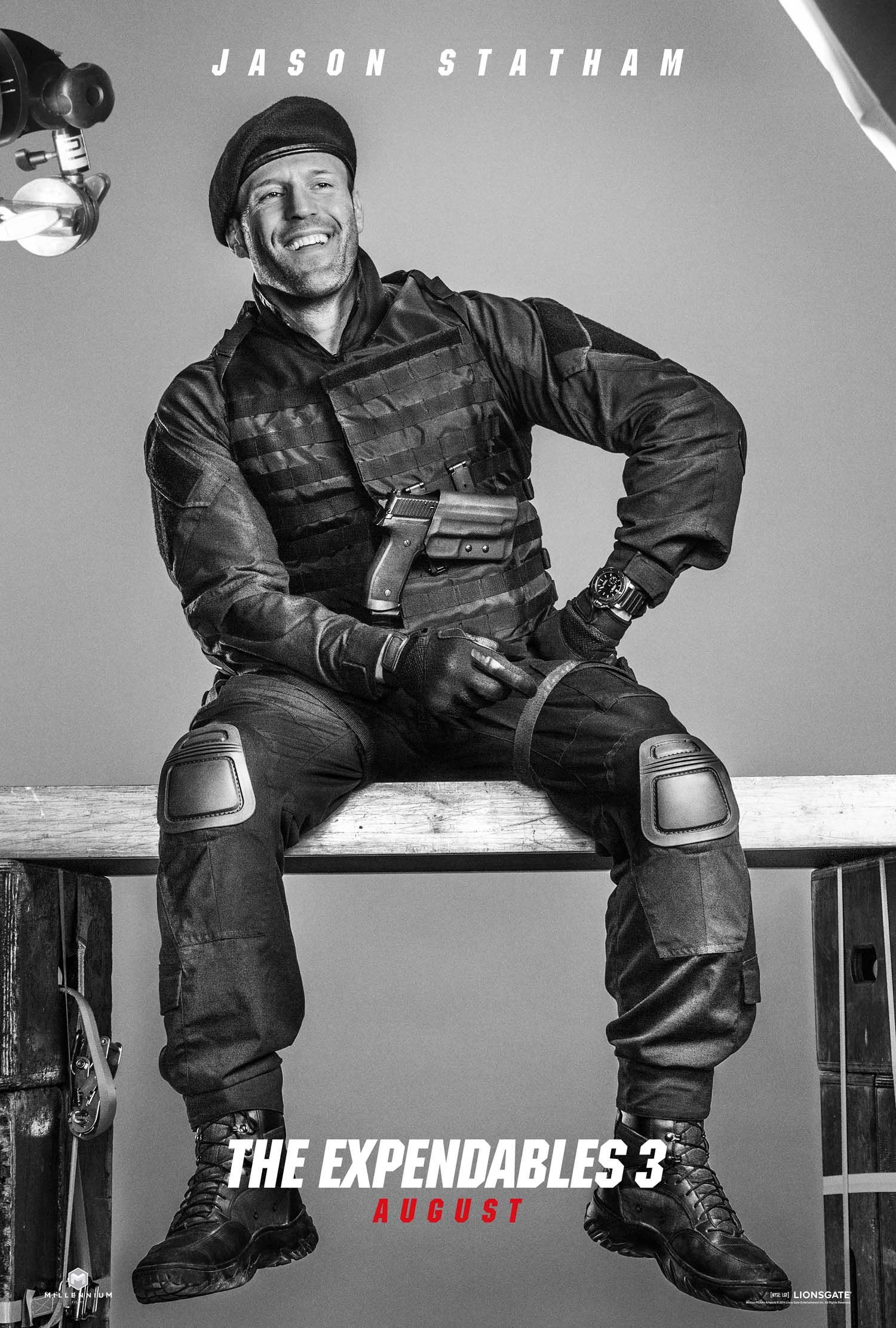 Jason Statham as Lee Christmas in The Expendables 3.   The ...