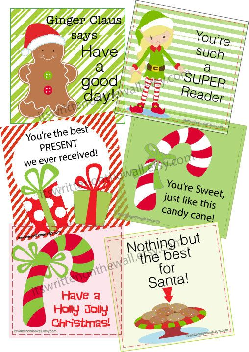 Lunchbox Notes For December Use As Gift Tags Too Christmas Printable