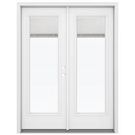 Superieur ReliaBilt 59.5 In Blinds Between The Glass Steel French Inswing Patio Door