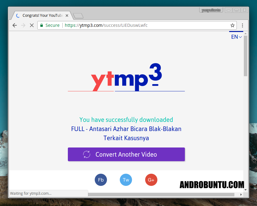 Cara Download Video Youtube Menjadi Mp3 Androbuntu Youtube Pengikut Video