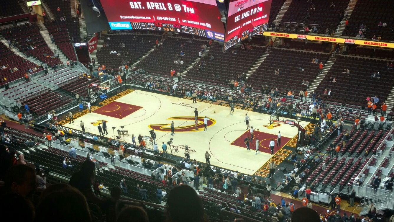 Seating charts quicken loans arena official website - Quicken Loans Arena March 31 2017 Cavs Vs The Philadelphia 76ers