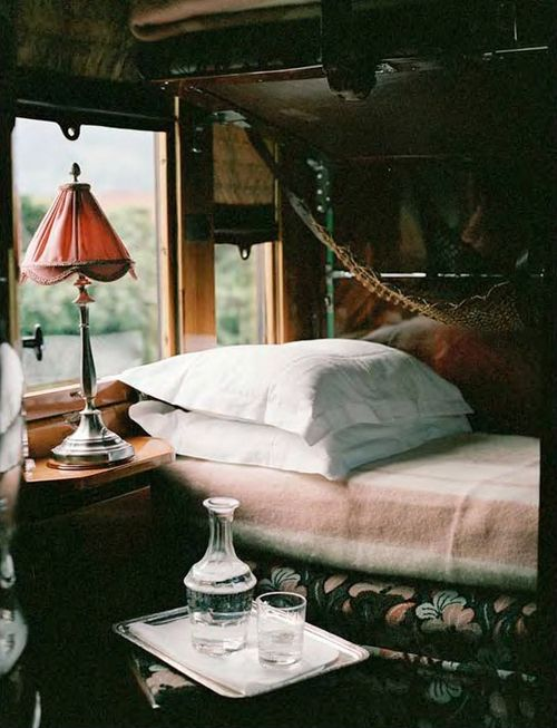 sleeper car on the Orient Express.