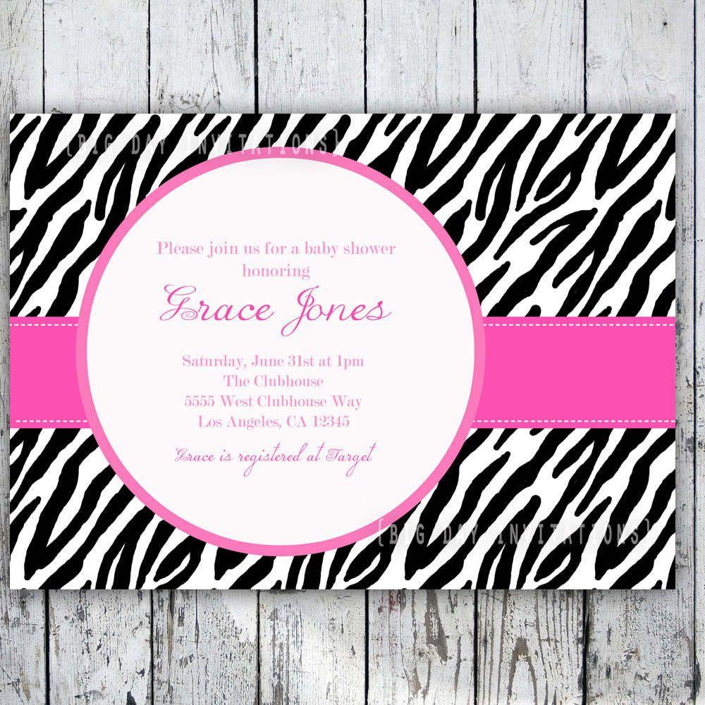 Zebra Print Invitations Printable Free | All Things Zebra ...