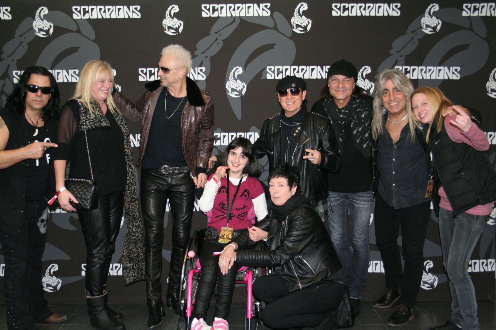 wir durften mit Filiz die Scorpions Backstage besuchen - wir sagen vielen vielen lieben Dank