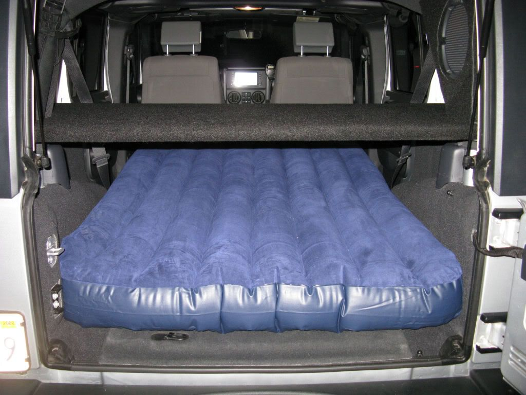 Air mattress in Wrangler Unlimitted Offroad, well mostly