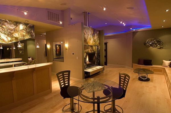 Rec Room Design Ideas For Some Fancy Time At Home Rec Room Minimalist House Design Basement Lighting