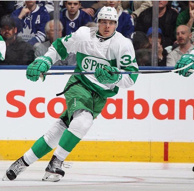 Auston Matthews in St. Patrick's jersey | Maple leafs, Toronto maple, Toronto  maple leafs