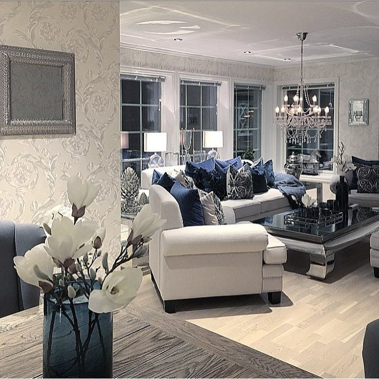 165 8k Followers 903 Following 2 406 Posts See Instagram Photos And Videos From With Images Modern Apartment Living Room Blue Living Room Decor Modern Glam Living Room