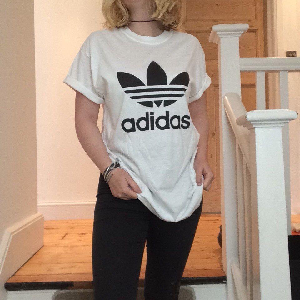 6320449d49477 Classic white adidas swag sexy style top tshirt fresh boss dope celebrity  festival clothing fashion urban