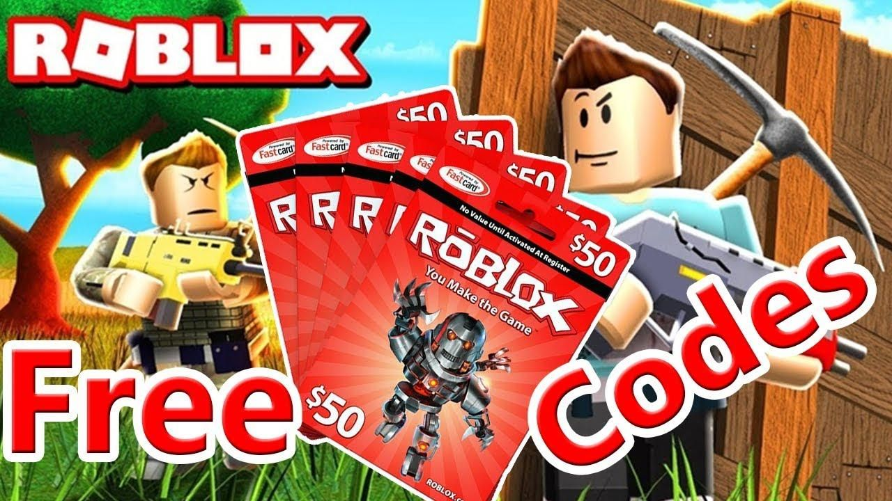 Free robux codes 2019 free roblox gift card codes 2019