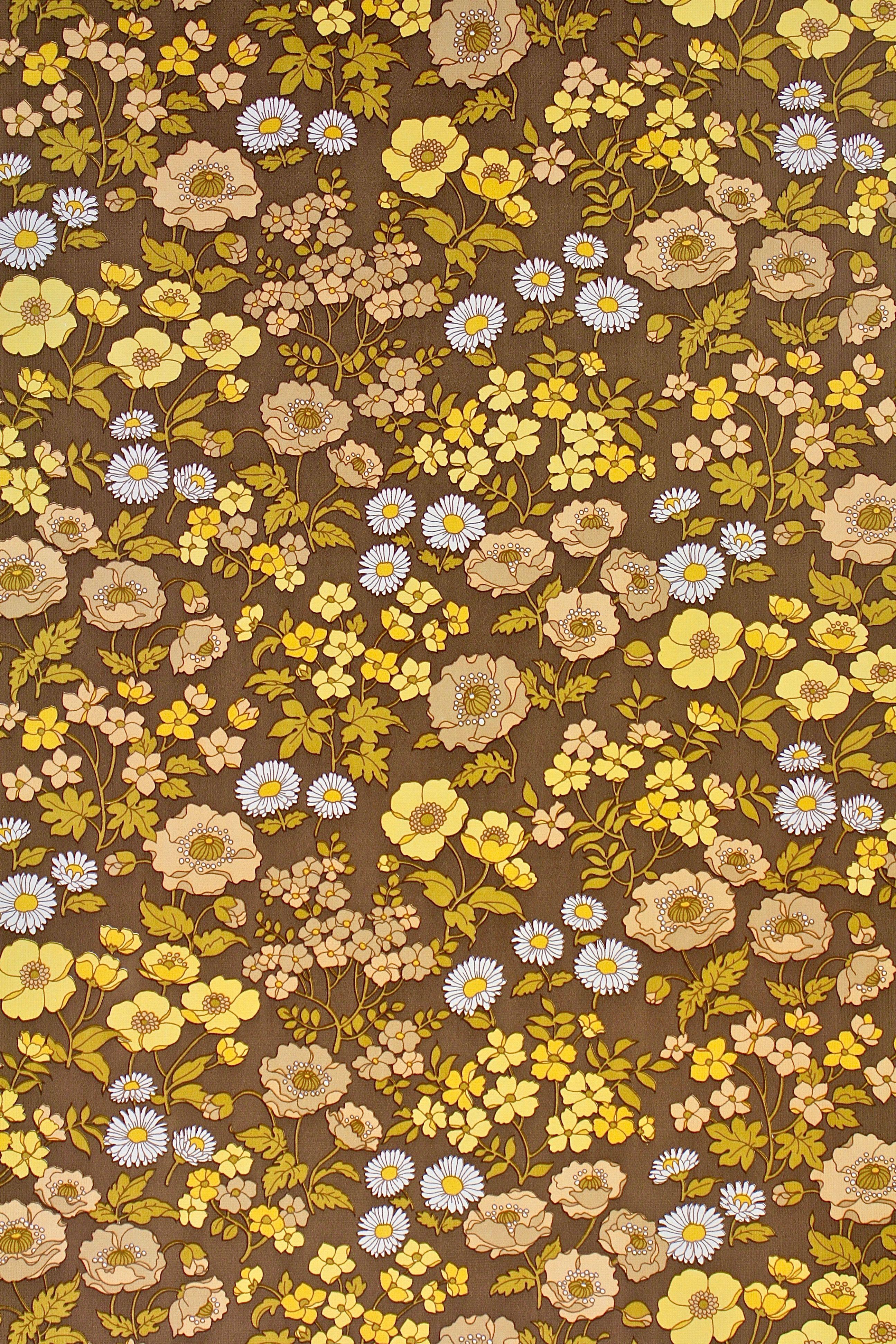 Brown background floral wallpaper browse more vintage