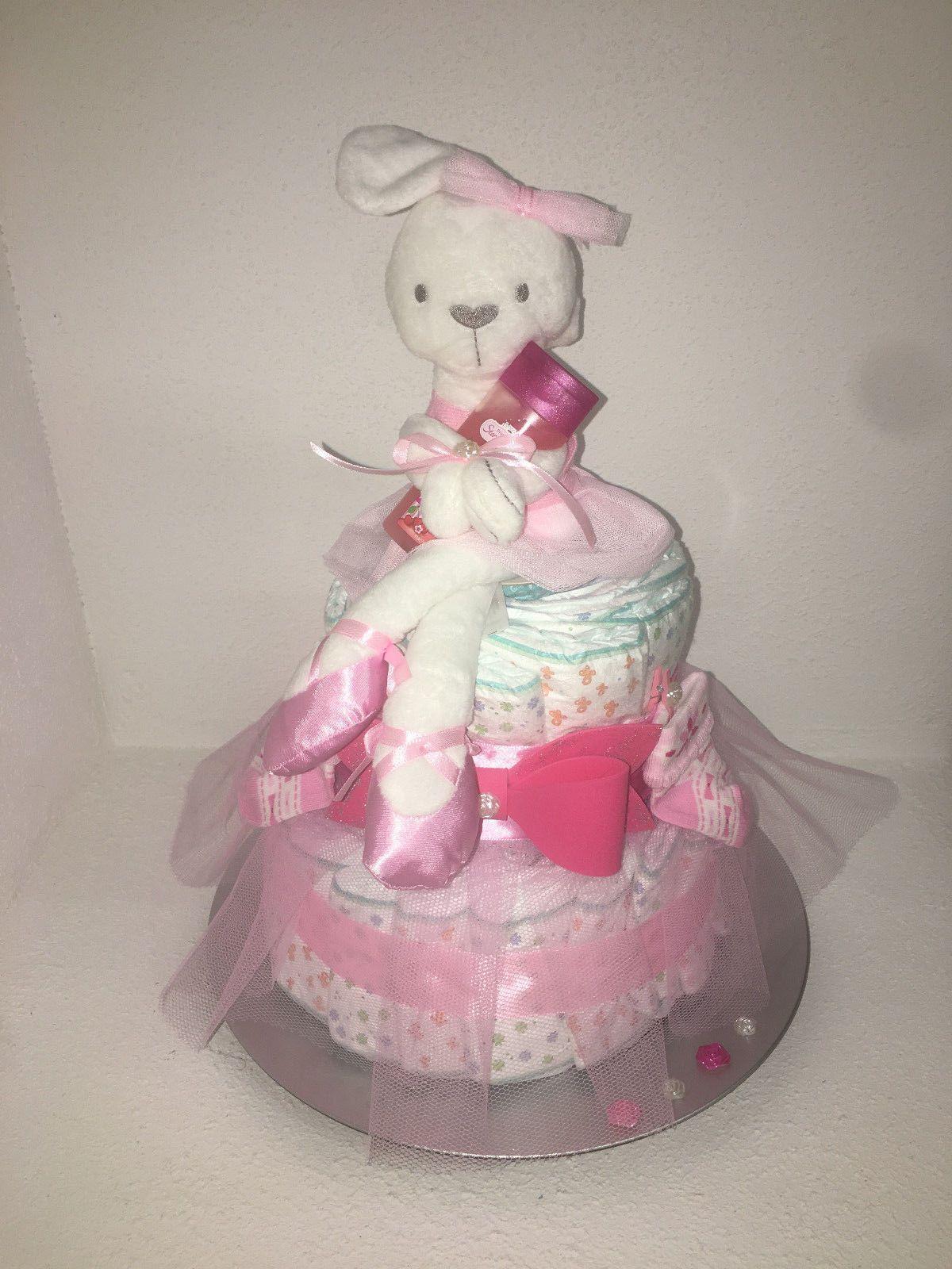 Xl Windeltorte Mädchen Babyparty Taufe Geburt Taufe