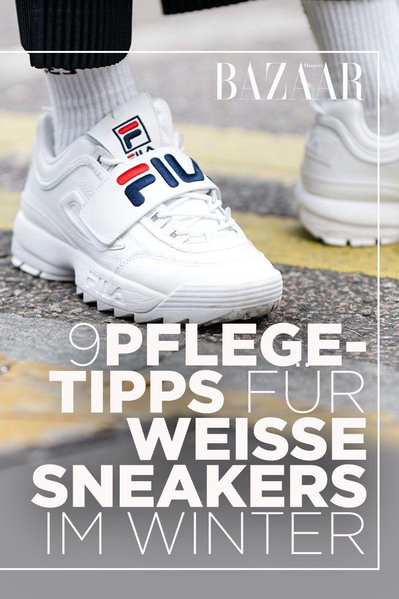 Wie bleiben weiße Sneakers im Winer wirklich sauber? Mit
