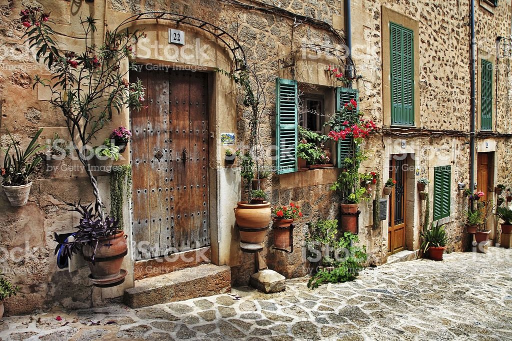 old streets of Mallorca, Spain royalty-free stock photo