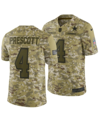 cheaper 85cf4 74c53 Men's Dak Prescott Dallas Cowboys Salute To Service Jersey ...