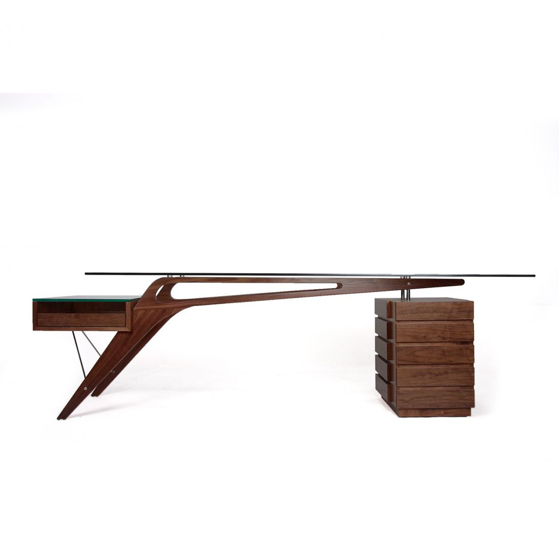 Koen cavour desk walnut desks and real estate office