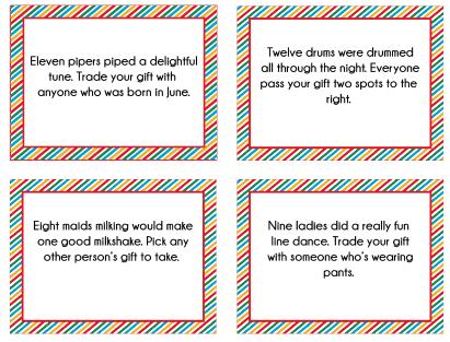 Free printable 12 days of christmas gift exchange game perfect for free printable 12 days of christmas gift exchange game perfect for any holiday party negle Choice Image