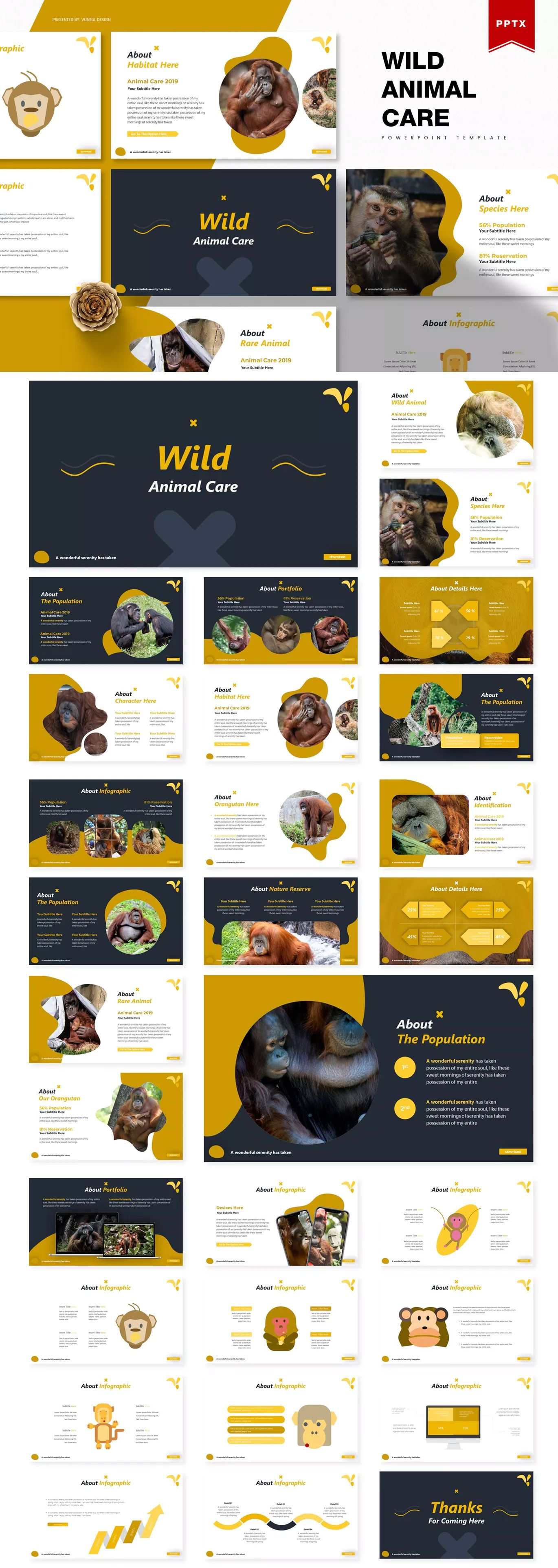 Wild Animal Care Powerpoint Template by Vunira on