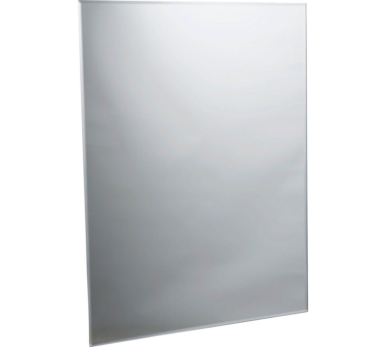 Home Rectangular Bevelled Bathroom Mirror - Silver | Wall ...