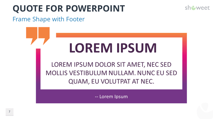 Powerpoint Templates For Quotes Showeet Com Quote