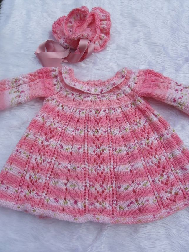 6a3292db0bc9 knit baby dress lace
