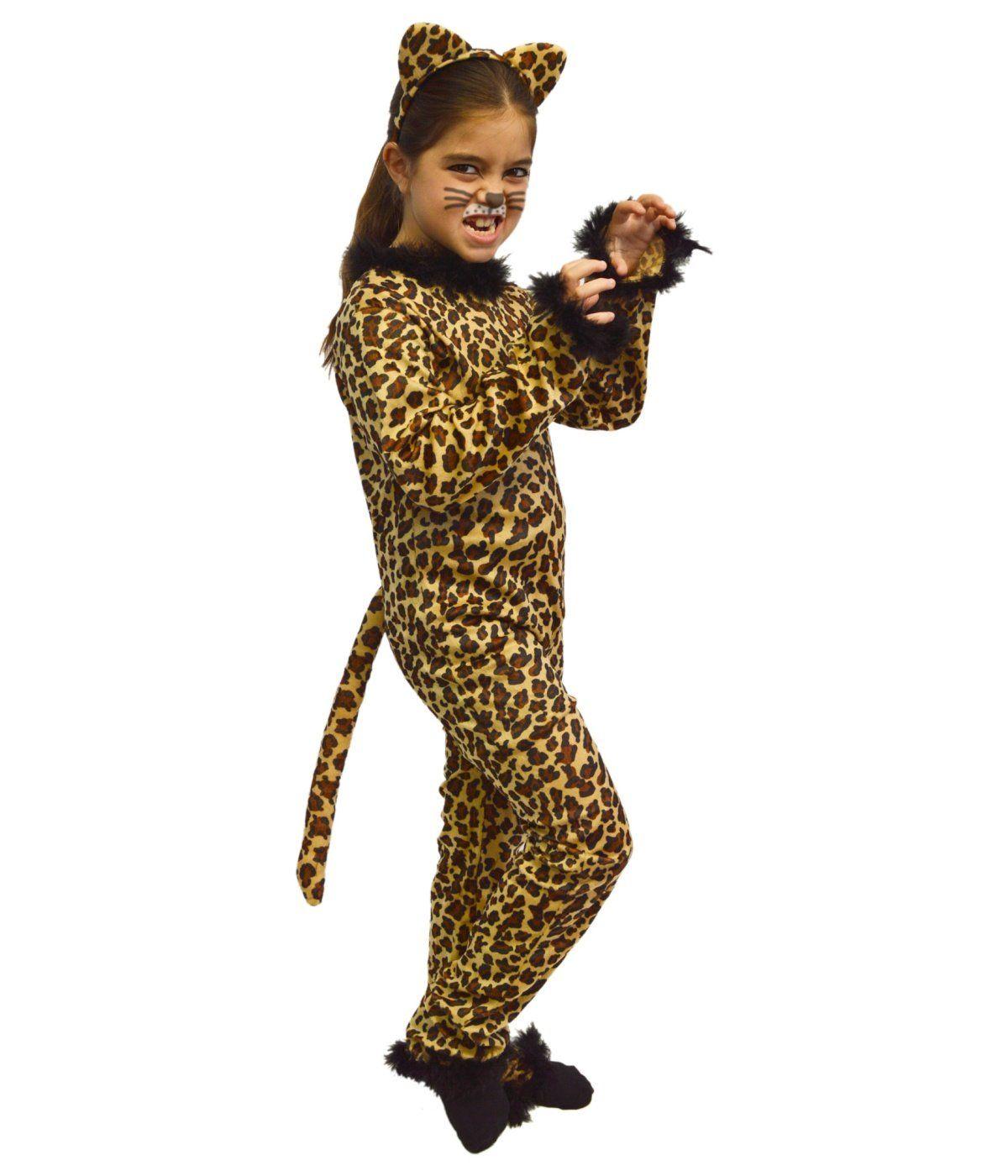 155327f82a7d Amazon.com: Big Girls Leopard Bodysuit Animal Print Costume: Clothing