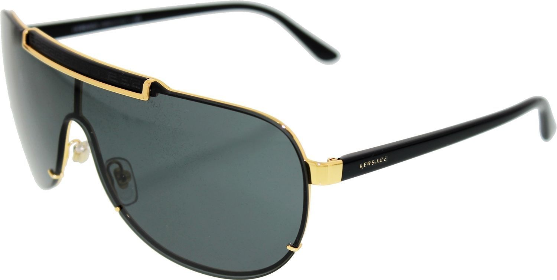 513047b409af Versace Men's VE2140-100287-40 Gold Aviator Sunglasses in 2019 ...