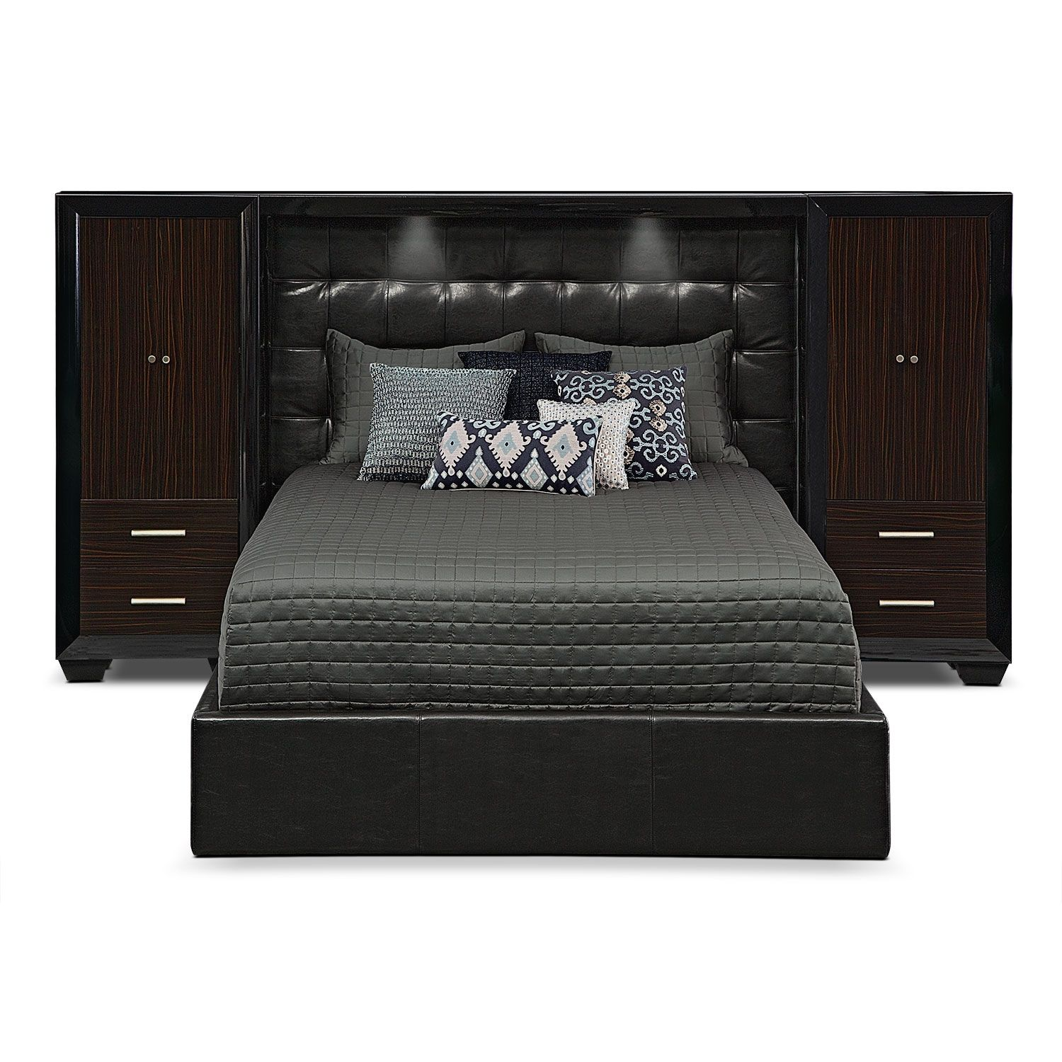 serenity king wall bed with piers - Pier Wall Bedroom Furniture