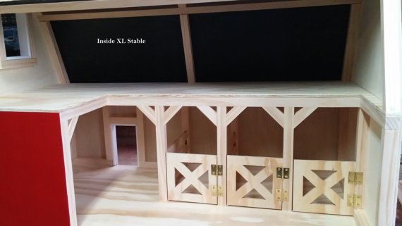 XL Wooden Toy Barns or Stables with 4 Hay by MANDTDecorandmore