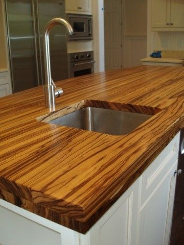 Definitely Diffe Zebra Wood Countertop