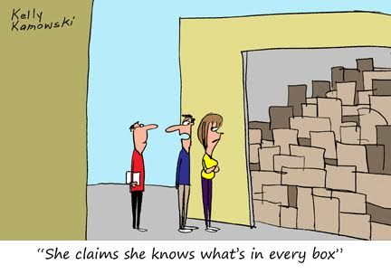 Funny Fridays Unlabeled Boxes By Kelly Kamowski Moving Humor