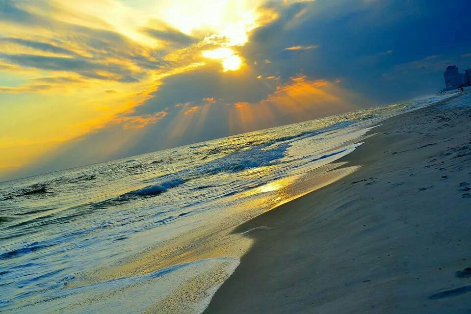 God paints Pensacola Beach with only white, gray, yellow, and blue......Perfect!  2014