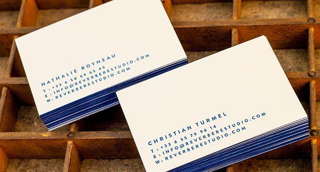 Catre De Visite Avec Debossage Sans Encre Couleur Sur Tranche Toulouse France Impression Letterpress