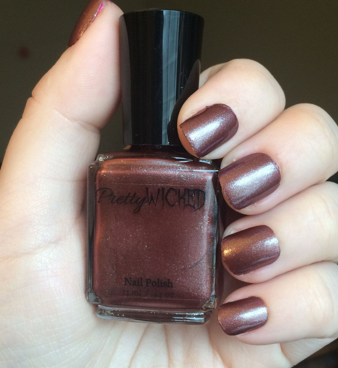 Dark Brownish Red Nail Polish, Xanthe Polish, Rust Nail Polish ...