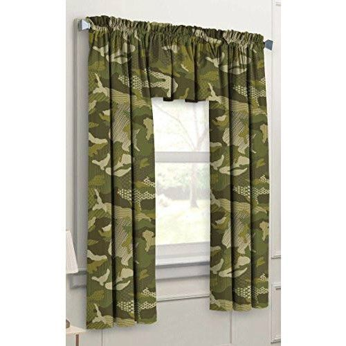 3 Piece Camo Curtain Set Army Green Army Bedroom Bedroom Themes Kids Curtains