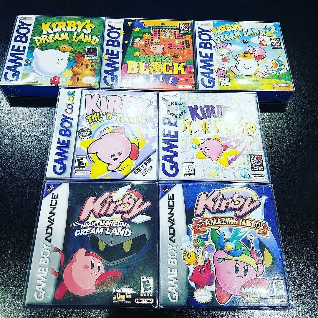 kirby games in excellent condition supervideogamebros a huge